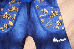 softshell jarní, top parametry 30/15, jeans