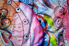 bavl. úplet pastelové spirálky